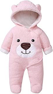 Vectry Abrigo Bebé, Niña Infant Ropa Otoño Invierno Infant Bear Zip Thick Snowsuit Hoodie Coat Jumpsuit Chaleco Cárdigan Suéter De Punto Chaqueta Niña Regalo