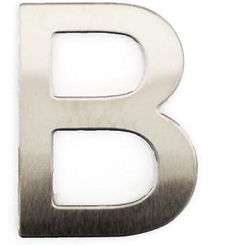 Lettre V en m/étal acier inoxydable bross/é/ /Autocollant Mural Chambres /étiquette dinscription Signalisation/ bureau chambre denfant /Hauteur 4/cm