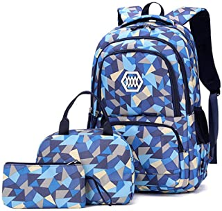 MITOWERMI Kids School bag With Lunch Bag and Pencil Case Elementary School Backpacks for Teen Girls 3 in 1 Backpack Sets