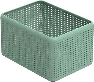 Rotho Madei Boîte de Rangement 13L, Plastique (PP) sans BPA, Vert, 13L (32,6 x 23,8 x 18,8 cm)