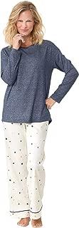 Soft Flannel Pajamas Women - Pajamas for Women Winter, Blue