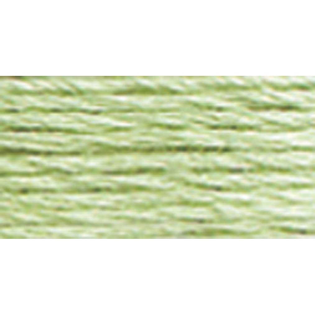 DMC 117-369 Mouline Stranded Cotton Six Strand Embroidery Floss Thread, Light Pistachio Green, 8.7-Yard