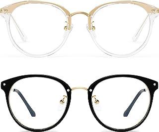 Retro Round Blue Light Blocking Glasses Women/Men - FEIDU Computer Anti Eye Eyestrain Reading Gaming Fashion Glasses Non P...