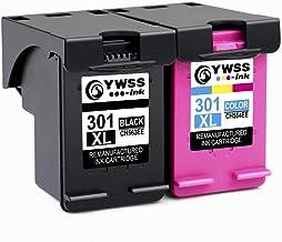 YWSS Remanufacturado Cartucho de Tinta para HP 301 XL HP 301 Alto Rendimiento Cartucho de Tinta (1 Negro +1 Tricolor) CH563EE / CH564EE para HP Deskjet 1000 1010 1050 2000 2050 2540