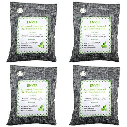 %50 OFF! QILERUI Bamboo Charcoal Air Purifying Bag, Activated Bamboo Odor Eliminator, Natural Air Fr...