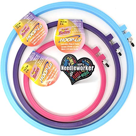 8 Round Embroidery Hoops 8 Plastic Embroidery Hoops Embroidery Hoops 8 Plastic Multi Colored