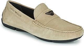 Emporio Armani X4b124-xf188 Chaussures bateau pour homme Beige