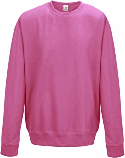 Star and Stripes Plain Candyfloss Pink Sweatshirts, Crew Neck Sweatshirt Plus 1 T Shirt with Set-in Sleeve Sweatshirts