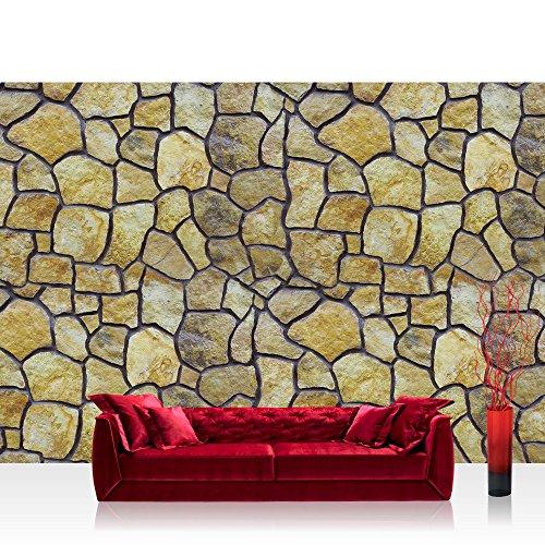 Fototapete 254x184 cm PREMIUM Wand Foto Tapete Wand Bild Papiertapete - Steinwand Tapete Steinoptik Steine runde Steine natural - no. 2313