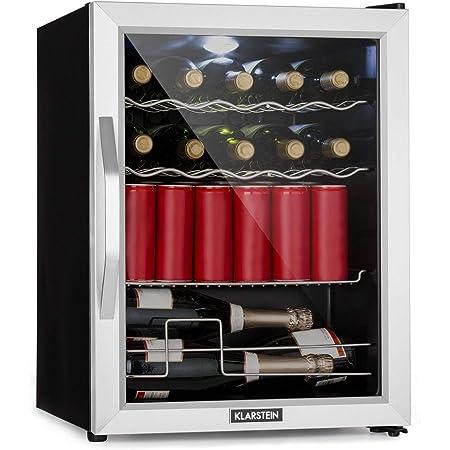 Klarstein Beersafe XL - Mix It Edition, Réfrigérateur 60L, 42dB, Classe D, porte vitrée