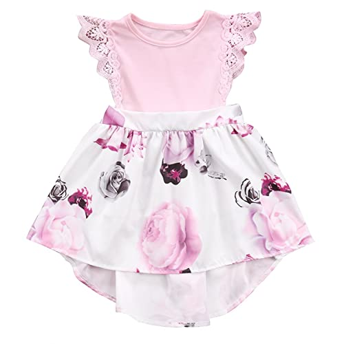 bfcd8a54bbd2 Big Sister Little Sister Floral Matching Clothing Lace Ruffle Sleeve  Romper Dress Outfit Family Clothing