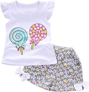 Fossen Bebe Niña Camiseta Sin Mangas de Lollipops y