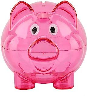LJJYD 1Pcs Mignon Tirelire Cochon Vert Tirelire en Plastique pour Cadeau danniversaire denfant