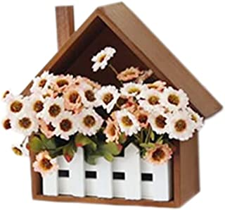 PANDA SUPERSTORE Creative Wooden Fence Decorative Flower Box Wall Hangings Shelves (2524cm)