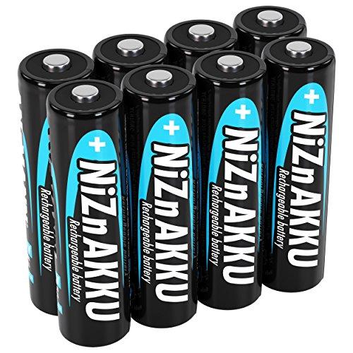 ANSMANN Nickel-Zink Akku AA 1,6V 1600mAh (2500mWh) Mignon NiZn/Ni-Zn Accu AA wiederaufladbare Batterien AA - Ersatz für 1,5V Einwegbatterien (8 Stück)