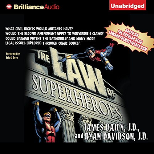 The Law of Superheroes audiobook cover art