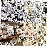 46pcs / Caja De Papel Kraft Vintage Etiquetas Auto-adhesivo De La Etiqueta Engomada Del Arte Del Sobre Por Un Planificador Diario Decoración Diy Scrapbooking Regalo