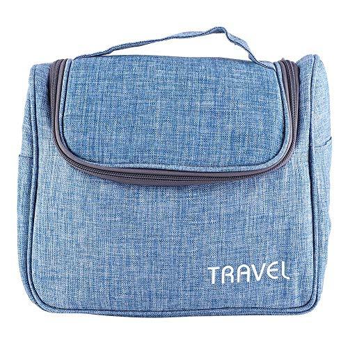 Duokon Make-up-tas, cosmetische toilettas met hangende haken, reis-make-up-tas, verschillende zakken, cosmetica-organizer