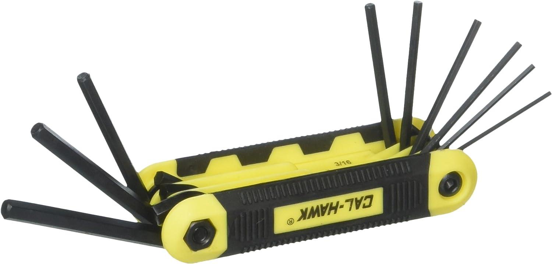 Cal Hawk Tools BSPHK9S 9 Piece Wrench Set Hex Key It is Regular discount very popular Folding
