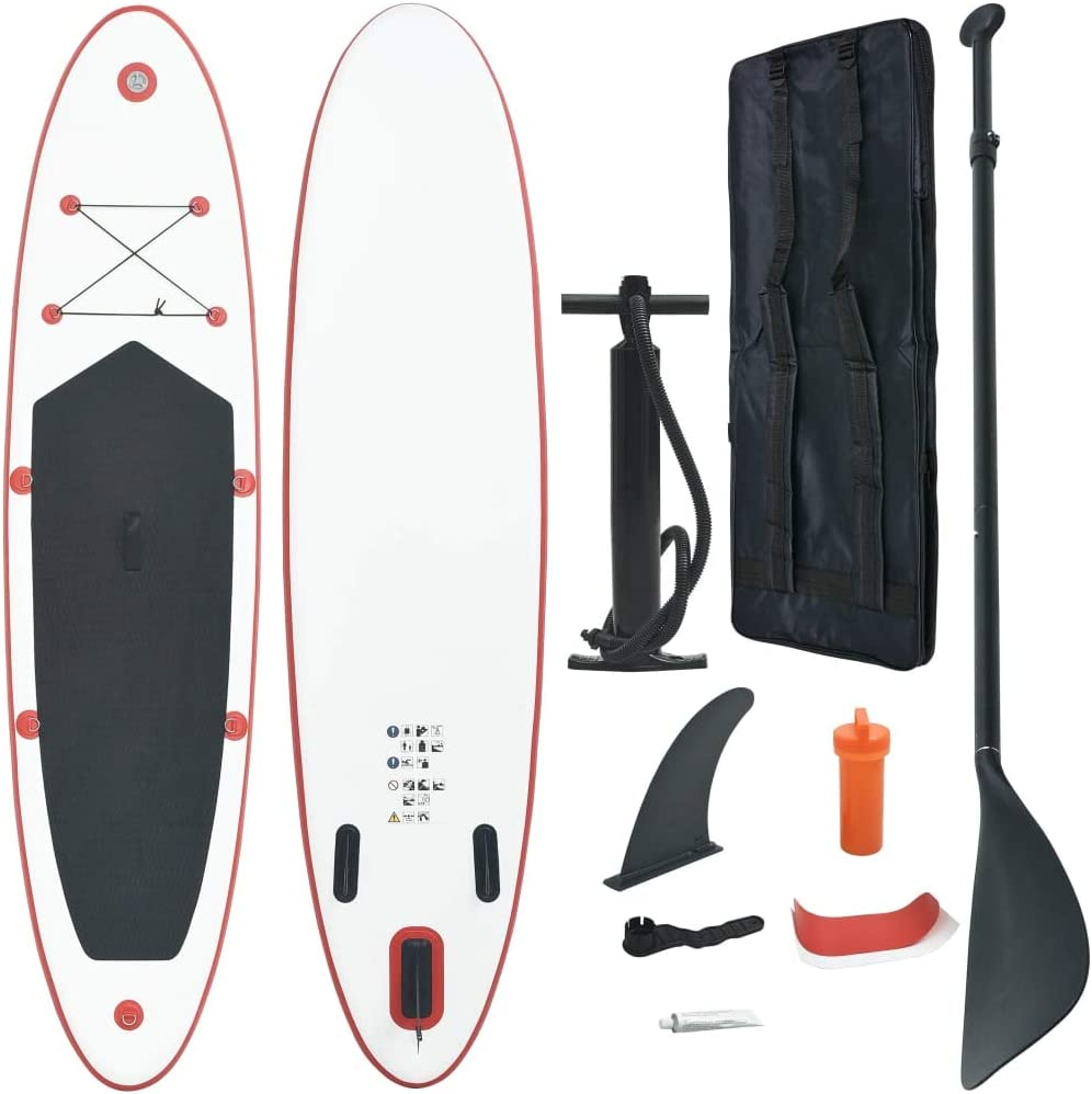 Miami Mall FAMIROSA Stand Up Paddle Board Max 67% OFF Inflatable Surfboard Red Set SUP