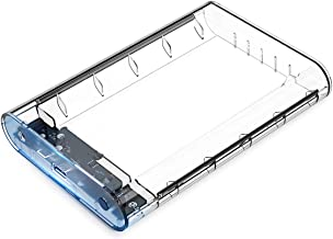 ORICO USB 3.0 External Hard Drive Enclosure for 3.5 inch SATA HDD Supports 10TB UASP SATA III Tool-Free Design - Clear