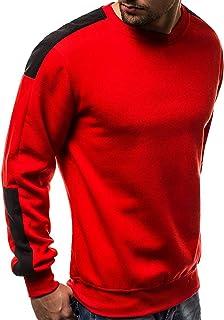 Men's Sweatshirts Casual Round Neck-Men's Sweatshirts No Hood Cotton Wool Pullover