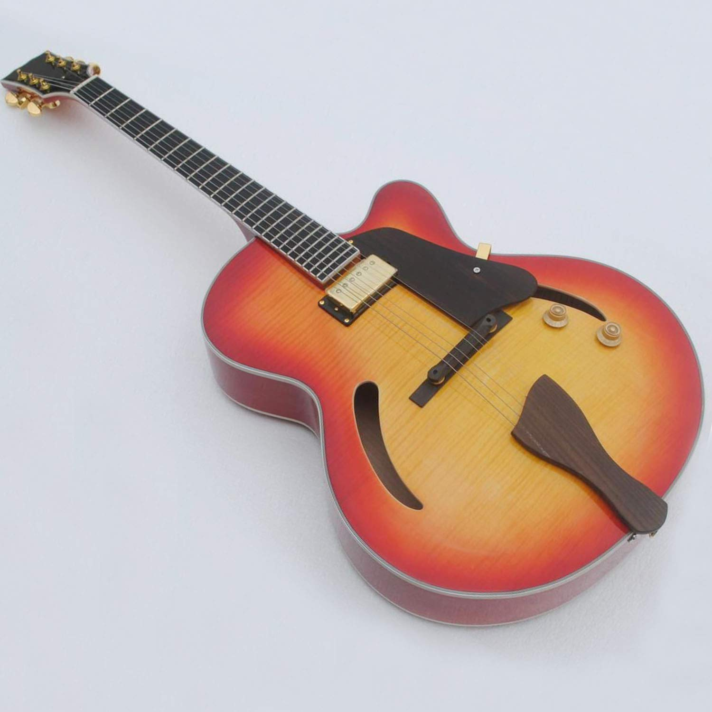 Cheap Semi-Hollow body custom jazz electric guitar in sunburst color Black Friday & Cyber Monday 2019
