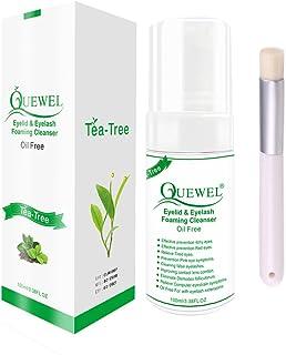 Tea Tree Lash Cleanser -Foaming 100 ml Eyelash Shampoo/Wash Eyelash Extension Safe For Daily Use Oil Free With Soft Brush