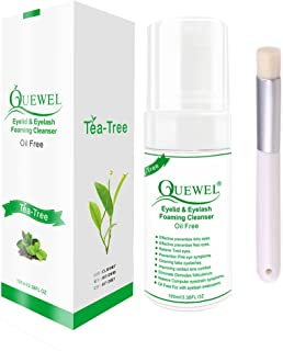 Eyelash Extension Cleanser Foaming 100 ML Eyelash Shampoo/Wash Eyelash Extension Safe For Daily Use And Is Oil Free With Soft Brush (Tea Tree)