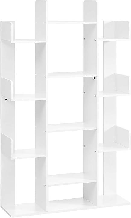 Libreria, scaffale a forma di albero con 13 scomparti, 86 x 25 x 140 cm, con angoli arrotondati vasagle LBC067W01