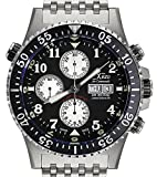 Xezo Air Commando Armbanduhr, Taucheruhr, Piloten-Stil, Schweizer Valjoux 7750 Automatik-Uhrwerk,...