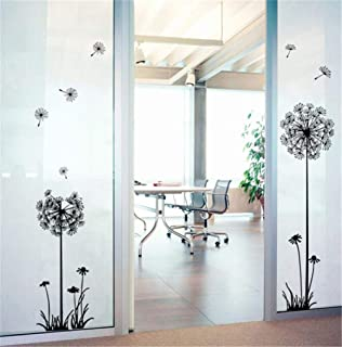 أسود الهندباء ملصقات الحائط غرفة المعيشة الممر خلفية اللوحة الزخرفية يزيل ملصقات ايكو
