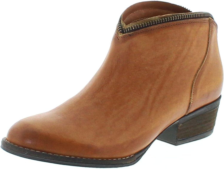 Mezcalero schuhe 2033 Sofia Orange Lederstiefette für Damen Braun Fashion Stiefelette