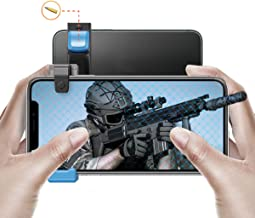 IFYOO MGT108 最新型 引き金式高速射撃ボタン Mobile Game Controller コントローラー PUBG Mobile/Fortnitee Mobile フォートナイト/Call of Duty Mobile/荒野行動 iPhone/Android 対応 充電可能 ブルーX1