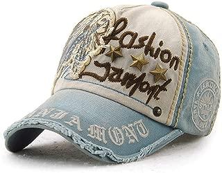 UC7LRR Sombrero Gorra de béisbol Gorra Plegable Casquillo Ocasional Casquillo Decorativo al Aire Libre Protección UV A Prueba de Viento Protección Solar Sombrero Sombrero para el Sol (Color : Blue)