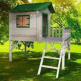 """BRAST Spielhaus für Kinder mit Balkon Stelzenhaus""""Adventure"""" 167x191x216cm Kinder-Haus Turm Holz Spielehaus"""