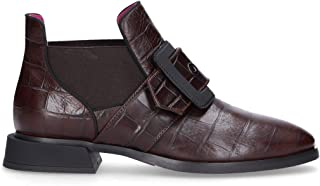 HUDSON Luxury Fashion Womens 24565 Burgundy Ankle Boots | Fall Winter 19