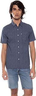 Camisa Levis Short Sleeve Sunset One Pocket Masculino Azul