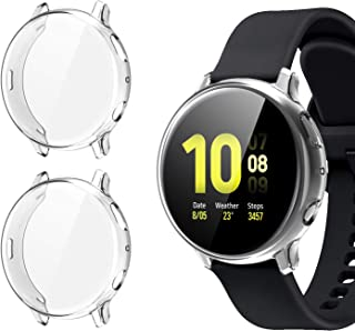 [2 Pack] Case for Samsung Galaxy Watch Active 2 44mm, All-Around TPU Anti-Scratch Flexible Screen Protector Case Soft Prot...