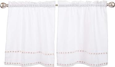 زوج ستائر نافذة من Lorraine Home Fashions Daisy Mae مقاس 142.7 سم × 60.9 سم، وردي