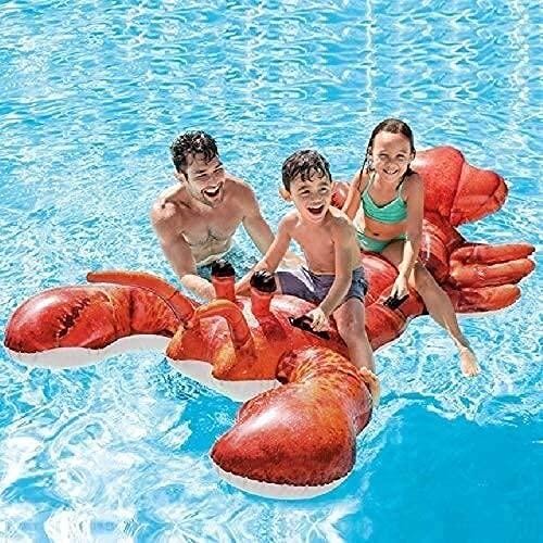 KCGNBQING Piscina Flotación Fila flotante Cama de aire de gran tamaño Langosta de langosta adulto Fila flotante con flotación Sofá Sofá Multi-globo Simulación Play y juguetes de agua Niños inflable Do