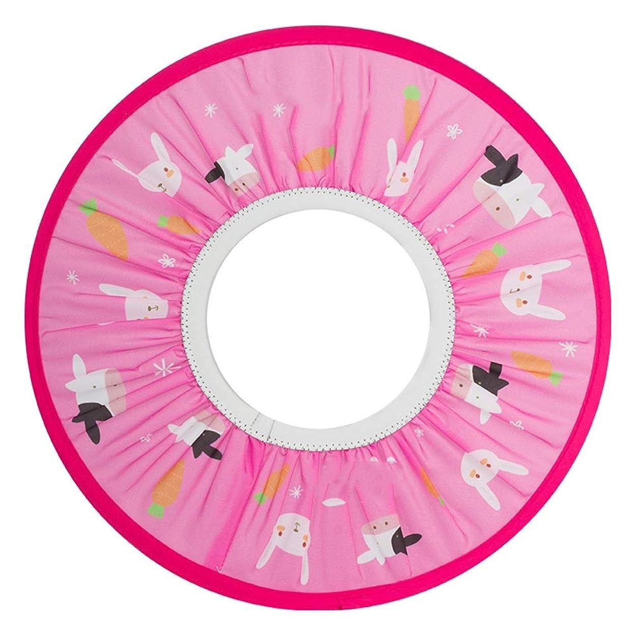 脅かす規制する洗剤Zhenxinshiyi 子供用防水イヤーマフシャンプーキャップ防水キャップウォッシュヘアアーティファクト伸縮性伸縮性自由調整防水コーティングファブリック素材軽くて壊れにくい耐久性 (Color : Pink)