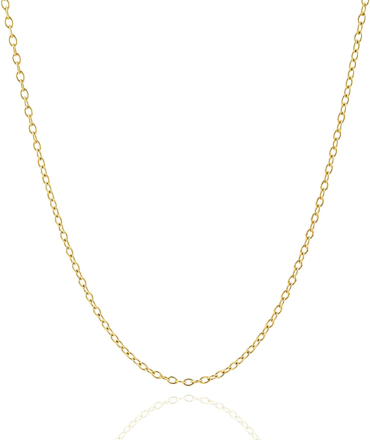 Jewelry Atelier Gold Chain Necklace Collection - 14K Solid Yellow Gold Filled Cable/Pendant Link Chain Necklaces for Women and Men with Different Sizes (2.0mm, 2.7mm, or 3.6mm)