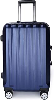 """Stylish and durable Wheels Travel Rolling Boarding,20"""" 26"""" Inch 100% Aluminium Spinner Aluminium Convenient Trolley Case,Super Storage Luggage Bag, high quality (Color : Blue, Size : 20inch)"""