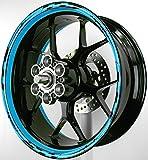 MOTOINKZ バイク用 17インチ フルカスタムリムステッカー GP2 スカイブルー B-85-SKYBLUE