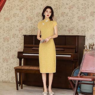 Chinese Dress Summer Short-Sleeved Slim Cheongsam