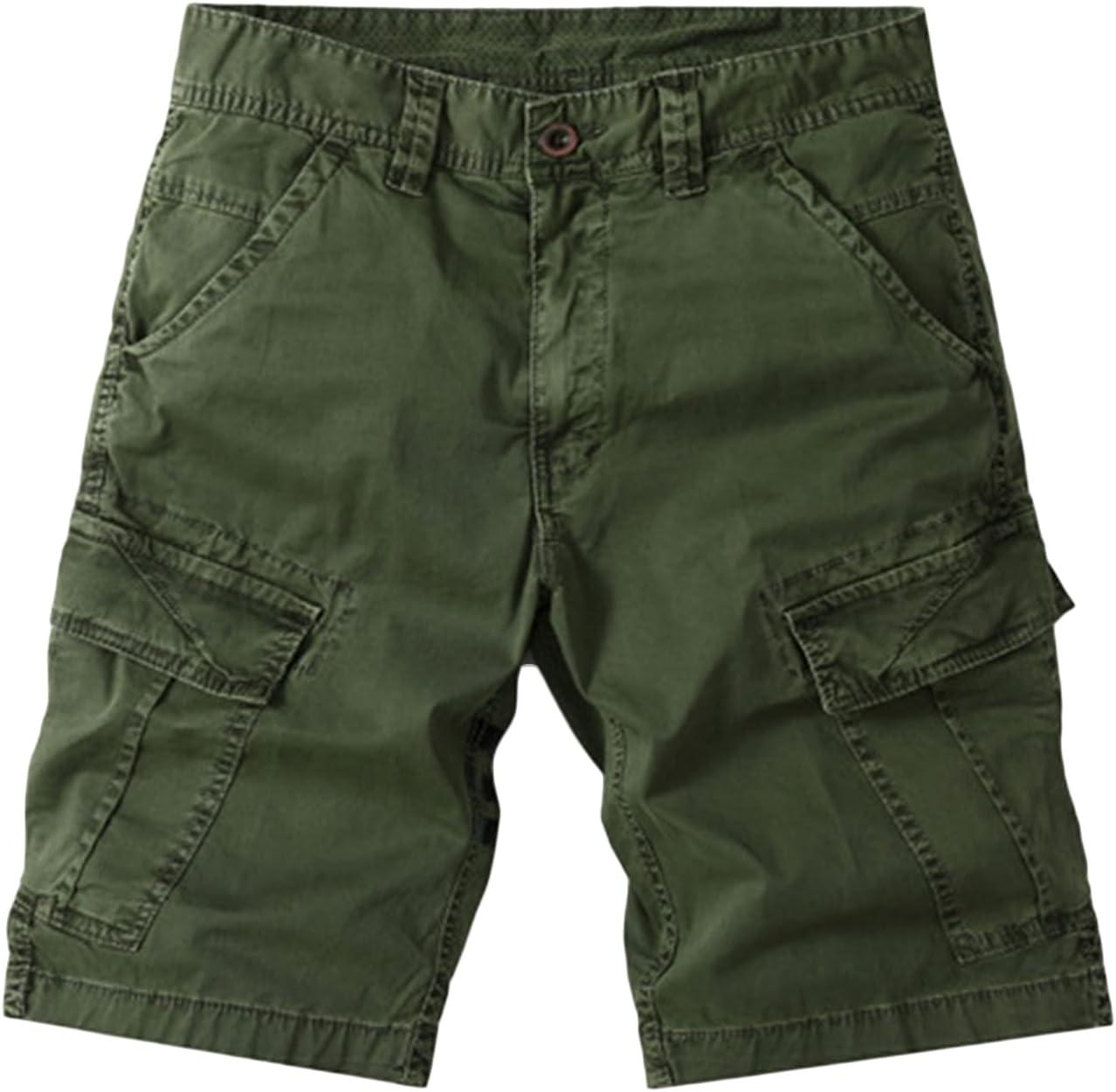 New Orleans Mall Men's Slim Fit Bargain sale Cargo Shorts Pockets Twill Multi Camo Casu