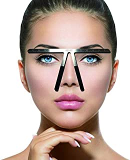 Tattoo Eyebrow Ruler Three-Point Positioning Permanent Makeup Symmetrical tool Grooming Stencil Shaper Balance Ruler (1)