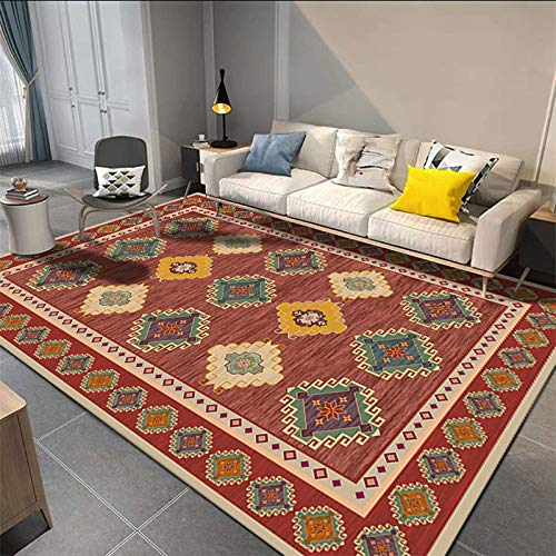 SN HUIPENG Big Carpets Persian Vintage Carpet for Living Room Bedroom Mat Non-Slip Area Rugs Boho Morocco Ethnic Retro Carpet 40x60cm