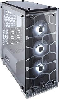 Corsair Crystal 570X RGB - Caja de PC, Mid-Tower ATX, ventana lateral cristal templado con ventilador, iluminación RGB LED, Blanco
